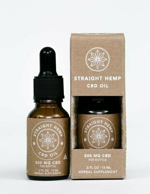 Straight Hemp Full Spectrum CBD Oil 500 MG