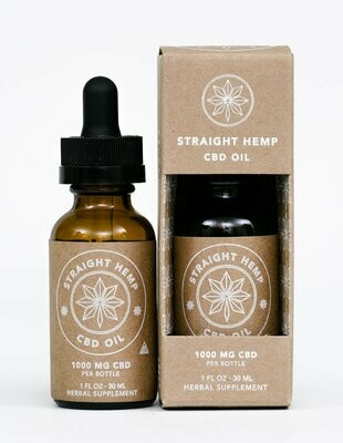 Straight Hemp Full Spectrum CBD Oil 1000 MG
