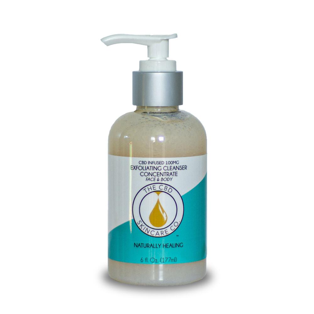 The CBD Skin Care Co-CBD Oil Infused Exfoliating Skin Cleanser