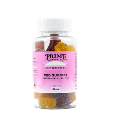 Prime Sunshine Full Spectrum CBD Gummies - 1500mg (50mg per gummy)