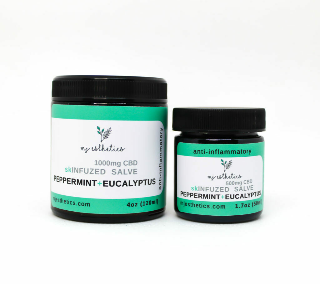 MJ Esthetics CBD Pain Salve with Peppermint and Eucalyptus 1000MG CBD