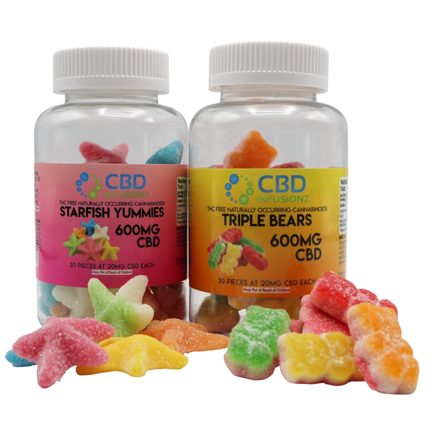CBD Infusionz - Triple Layer Bears CBD Gummies 100mg