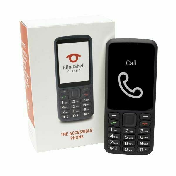 BlindShell Classic Cellphone, Midnight Black