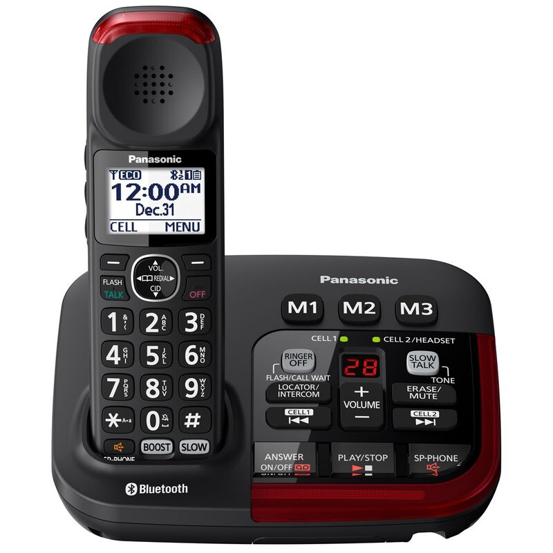 Panasonic Link2Cell Amplified Bluetooth Cordless Phone