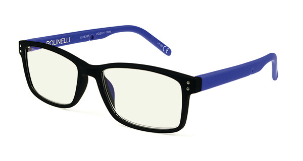 Polinelli Reader - Blue/Black Plano
