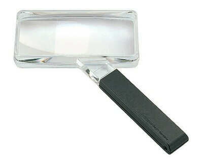 Large Field Biconvex Hand-held Magnifier - 2x
