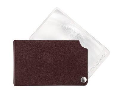 VisoPOCKET Folding Magnifier - Bordeaux/Red 2.5x