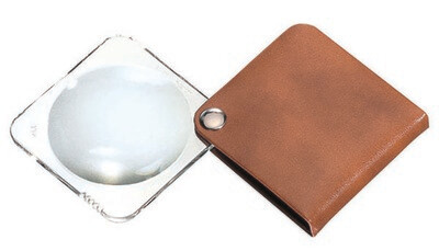 Classic Folding Pocket Magnifier - Tan 3.5x