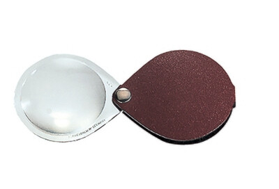Classic Folding Pocket Magnifier - Red 3.5x