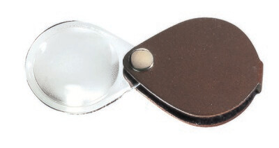 Classic Folding Pocket Magnifier - Brown 3.5x