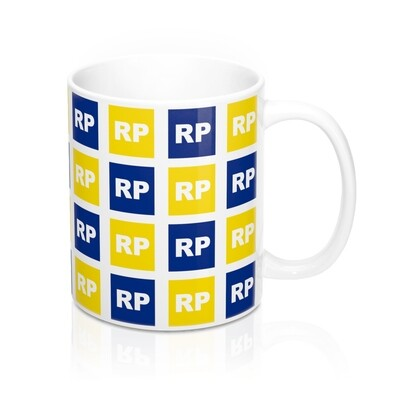 Retinitis Pigmentosa (RP) Awareness 11 oz Coffee Mug - Blue & Yellow