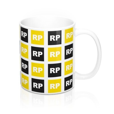 Retinitis Pigmentosa (RP) Awareness 11 oz Coffee Mug - Black & Yellow