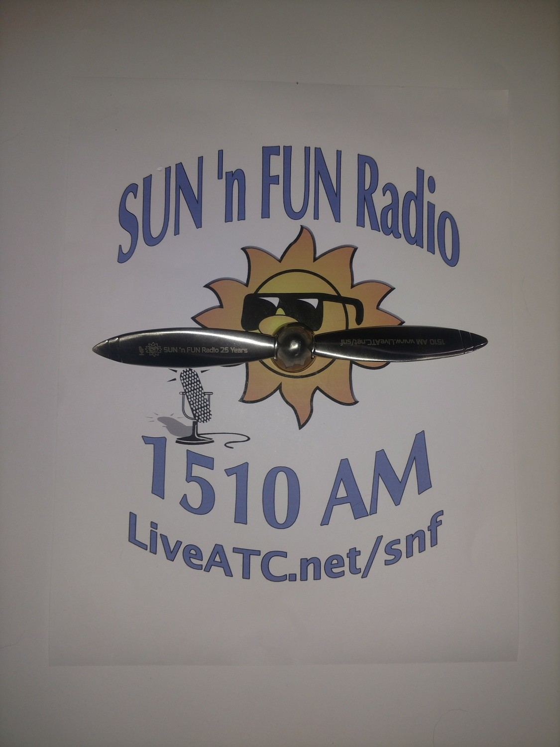 SUN 'n FUN Radio 25th Anniversary Spinner Prop      PICK UP IN PERSON AT #SnF19