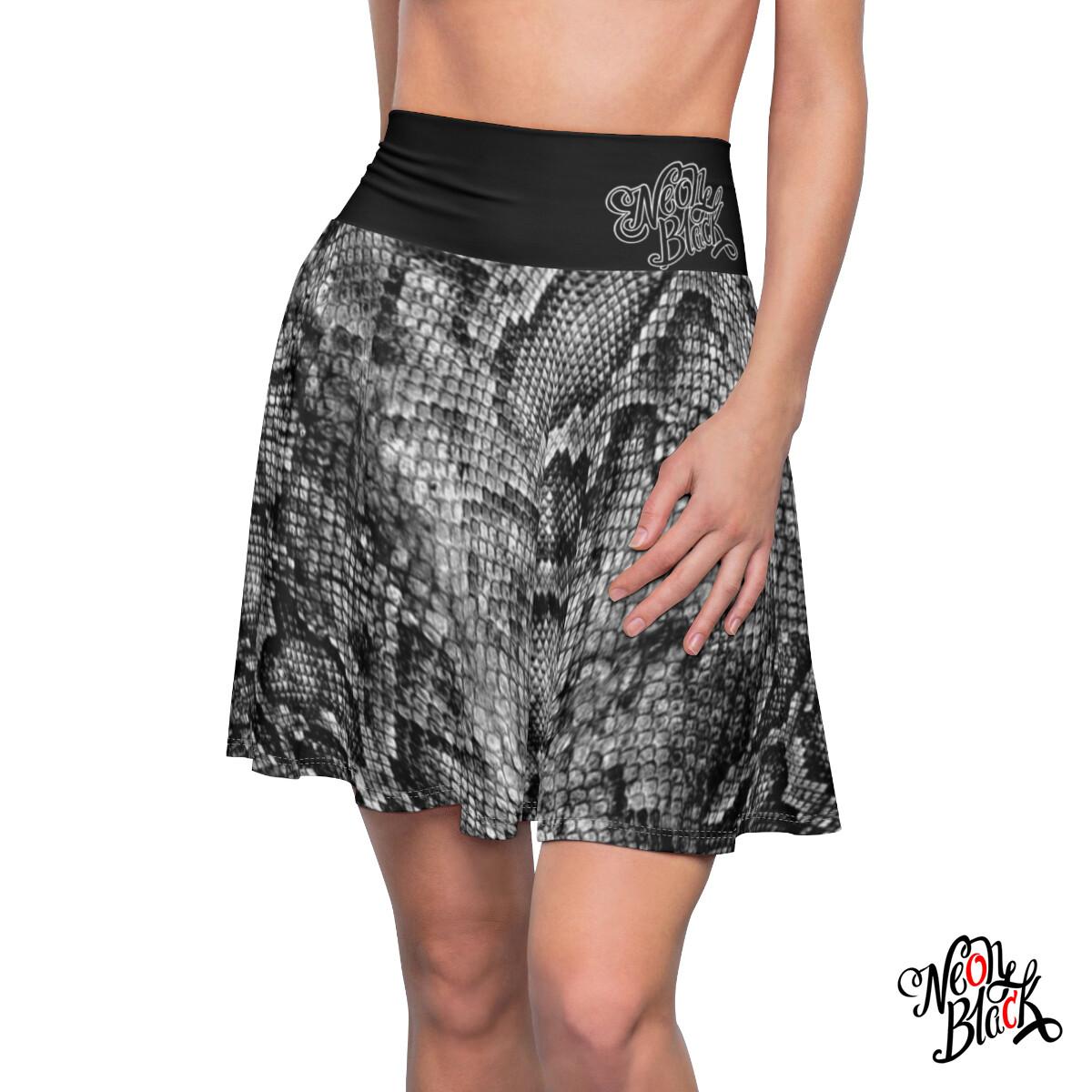 Snake Skin Skater Skirt