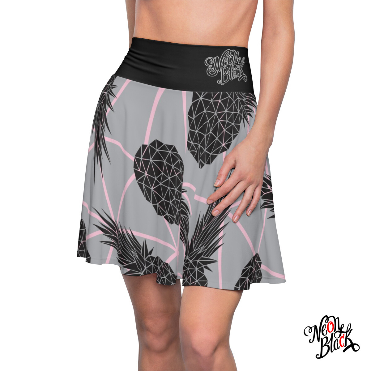 Geometric Pineapple Skater Skirt