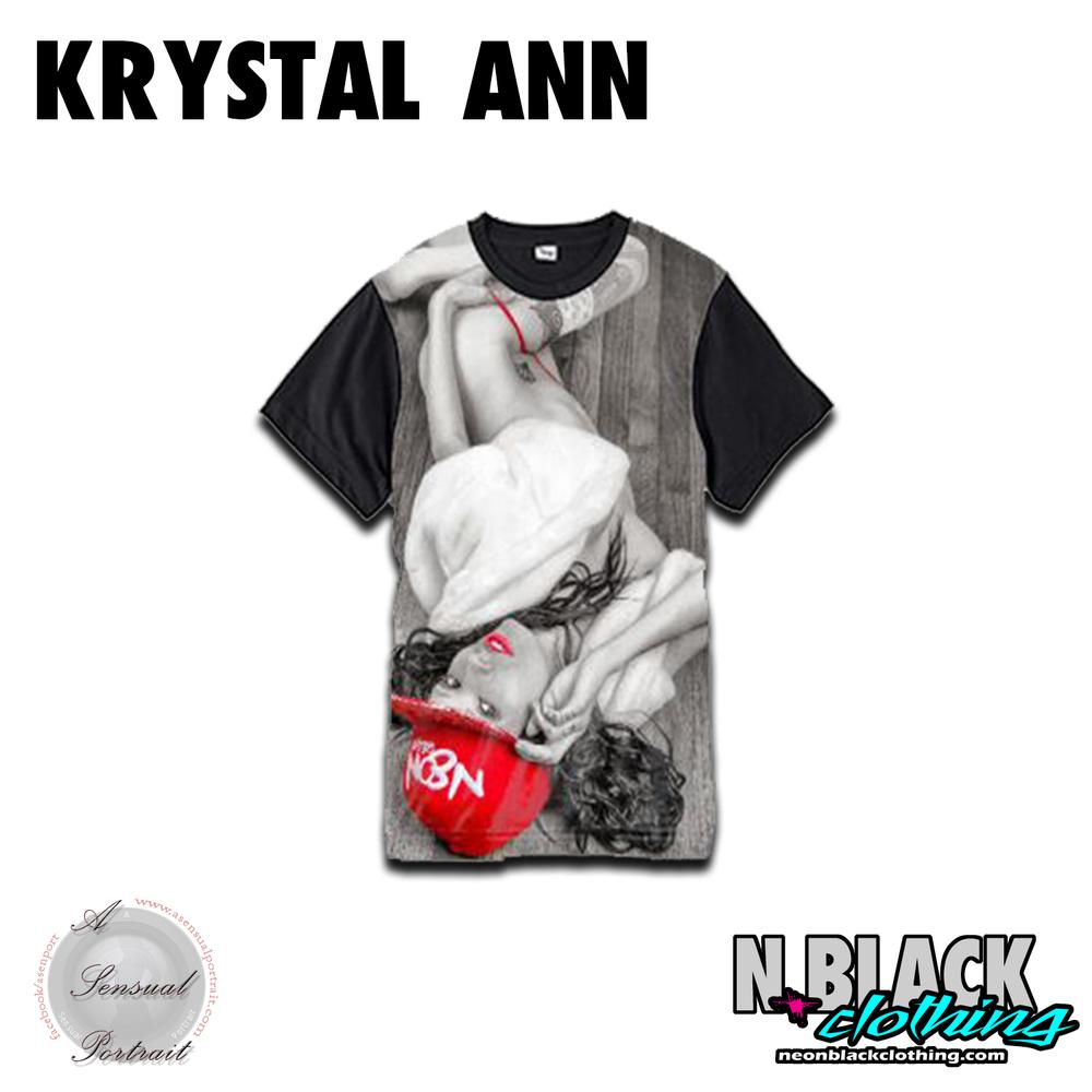 Krystal Black & White Red Bandana - A Sensual Portrait Collaboration