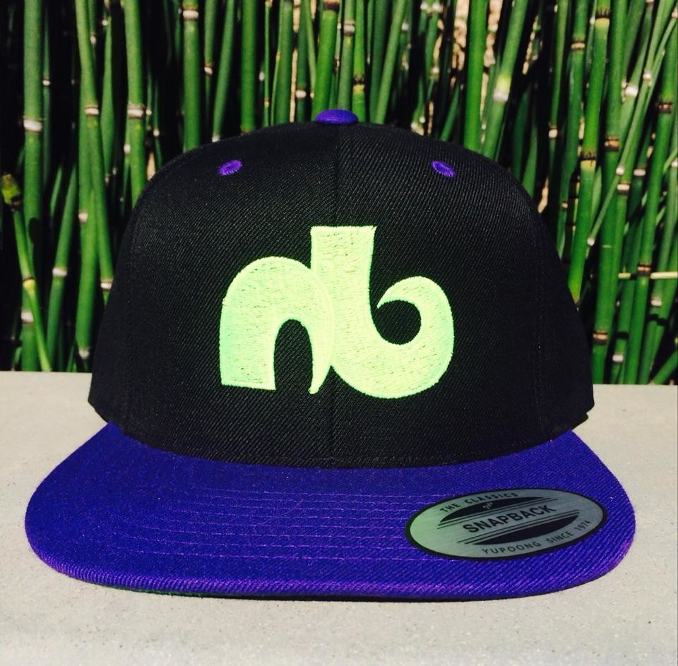 Black & Purple Brim Logo