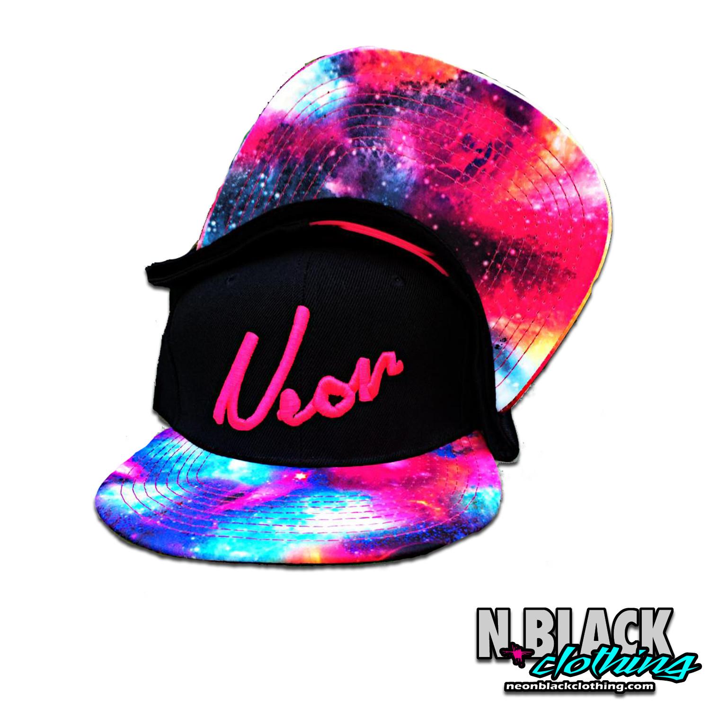 Galaxy - Neon Pink Script