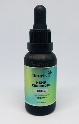 CBD Daily Ingestable Drops 500mgs (Regular Price $69.99)