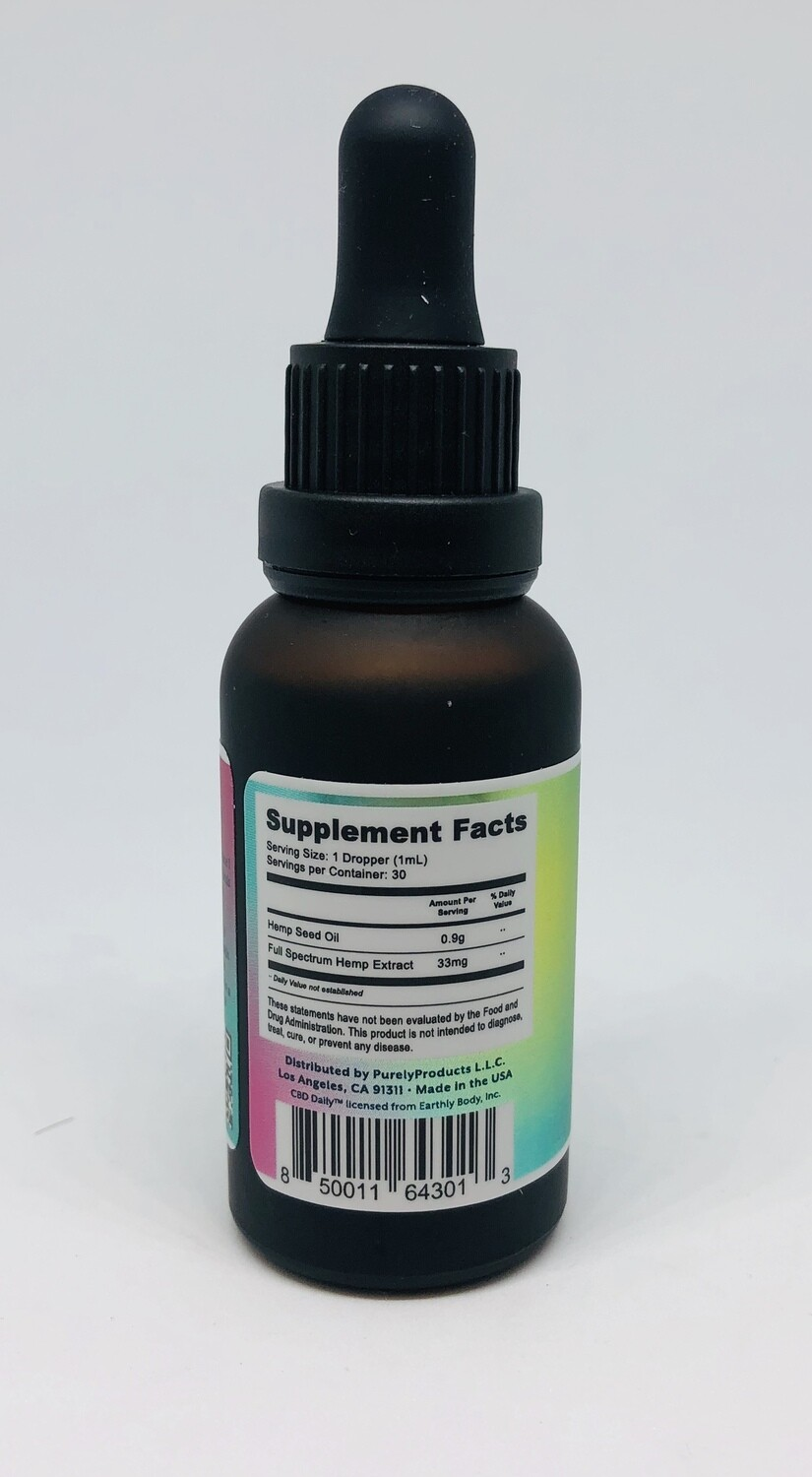 CBD Daily Ingestable Drops 1000mgs (Regular Price $129.99)