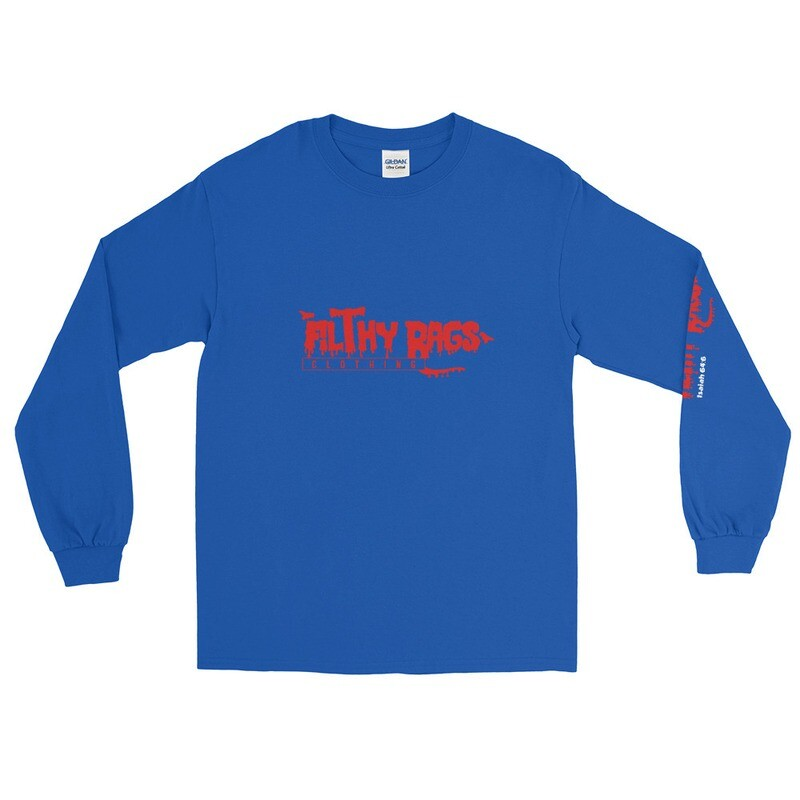FILTHY RAGS /Red/ Long Sleeve T-Shirt