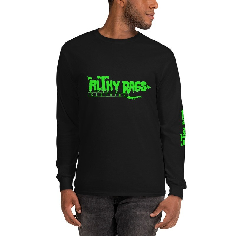 FILTHY RAGS /Green/ Long Sleeve T-Shirt