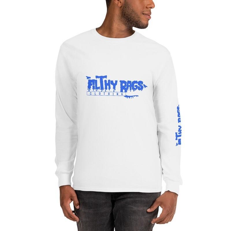 FILTHY RAGS /Blue/ Long Sleeve T-Shirt