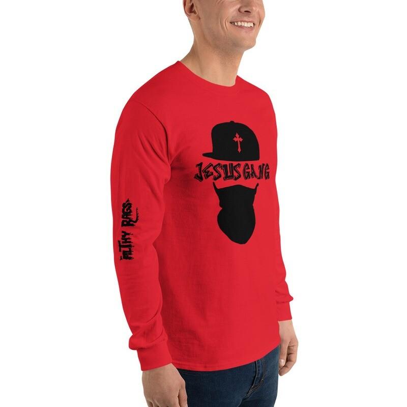 Jesus Gang Red Long Sleeve Shirt