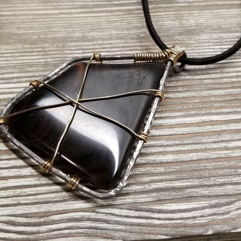 Mahogany Obsidian Pendant Necklace