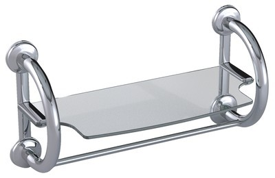 3-in-1 Grab Bar Towel Shelf Available in 2 Finishes
