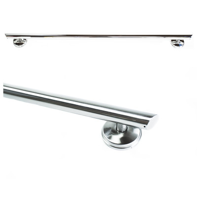 24 Inch Straight Shower Grab Bar Angled Ends