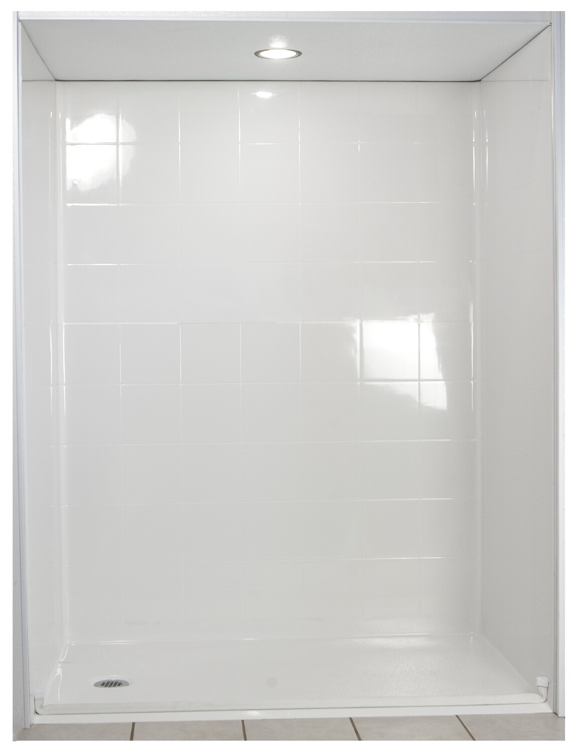 Standard Multi-Piece Barrier Free Roll In Shower AcrylX