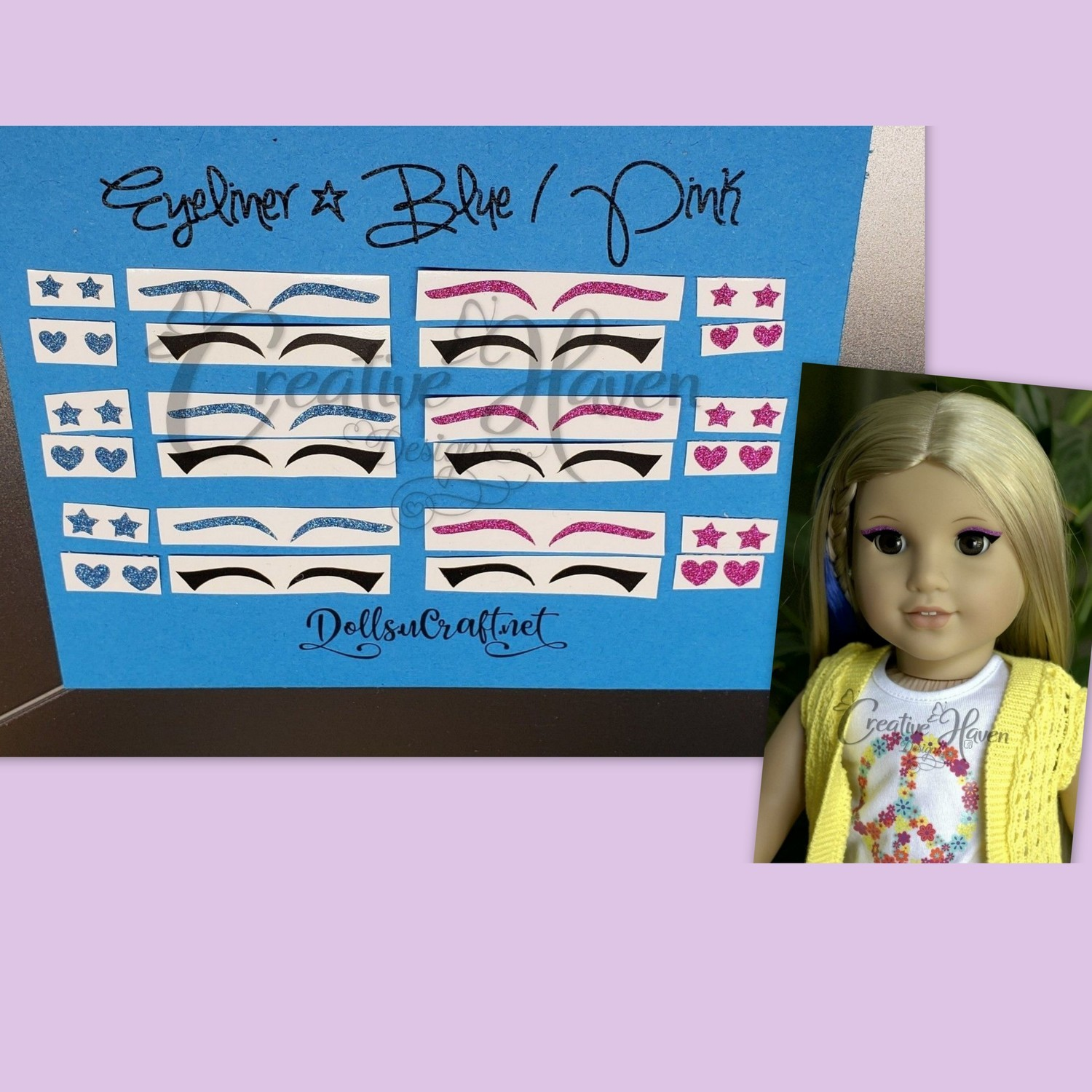Eyeliner Pick A 6pk 8 Each For American Girl Dolls