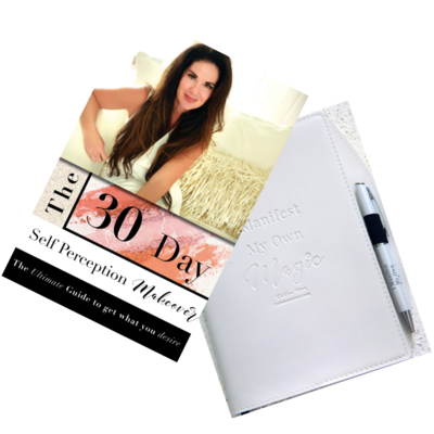 The 30 Day Self Perception Makeover Book and Manifesting Magic Journal and Pen Combo
