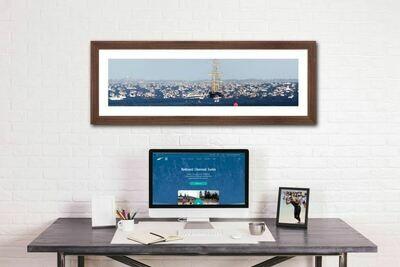 Start Line Panoramic Print