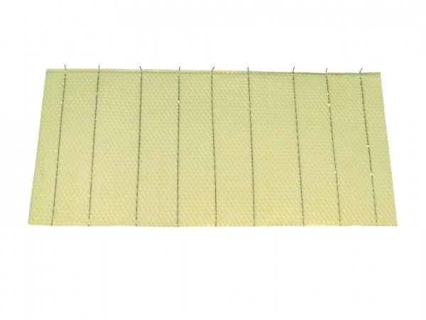 Crimp Wire Beeswax Foundation 10 Sheets