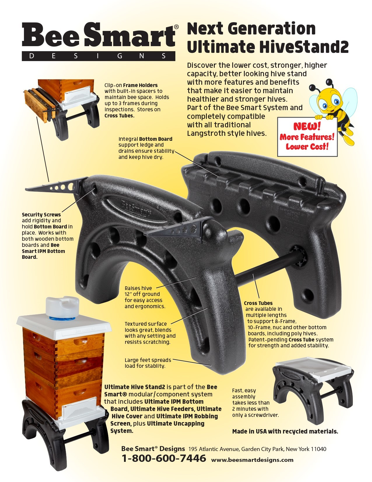 Beesmart Ultimate Hive Stand w/ Frame Rest 8-frame