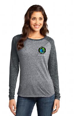 Long Sleeve Raglan Burner BGG logo T-Shirt | Women's GREY