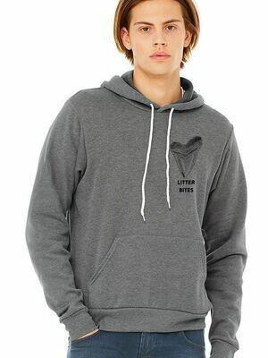 Litter Bites Pullover Grey Sweatshirt