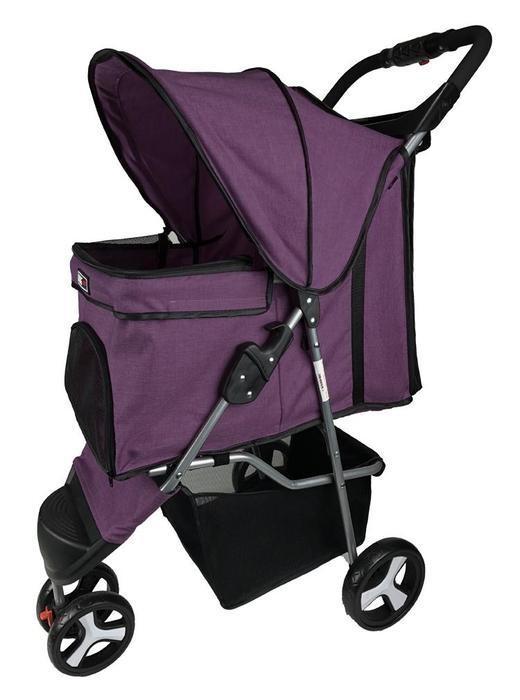 Dogline 3 Wheel Stroller Purple