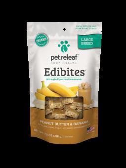 Pet Releaf Hemp Large Breed Edibites Peanut Butter & Banana