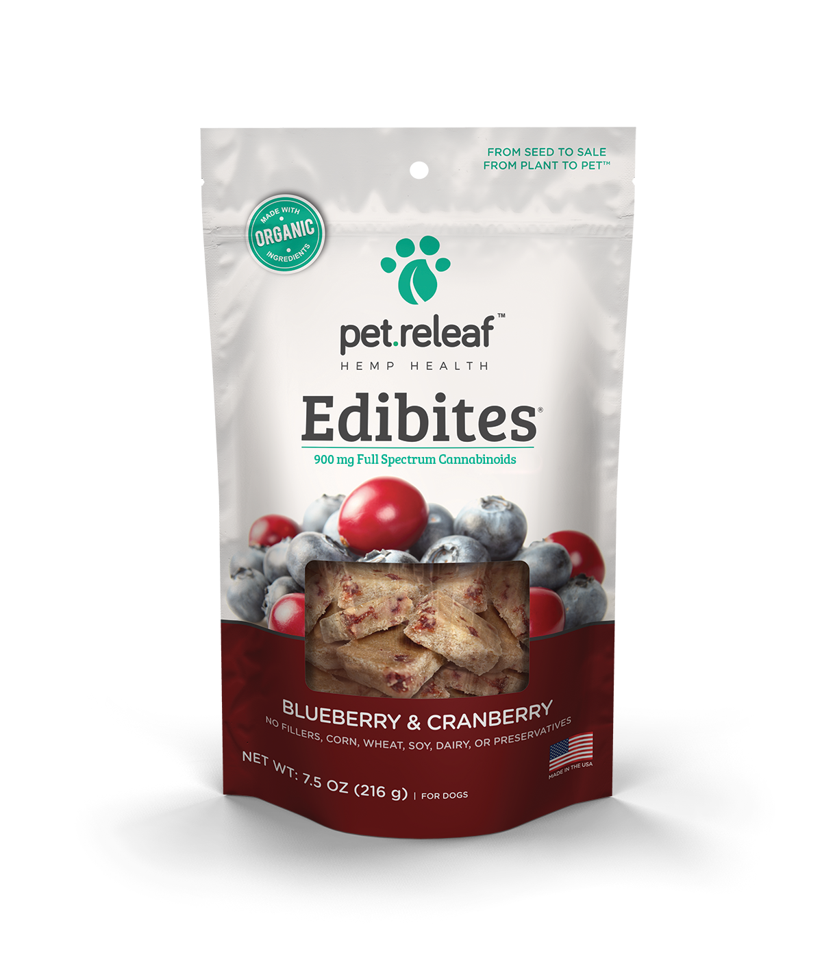Pet Releaf Hemp Edibites Blueberry & Cranberry