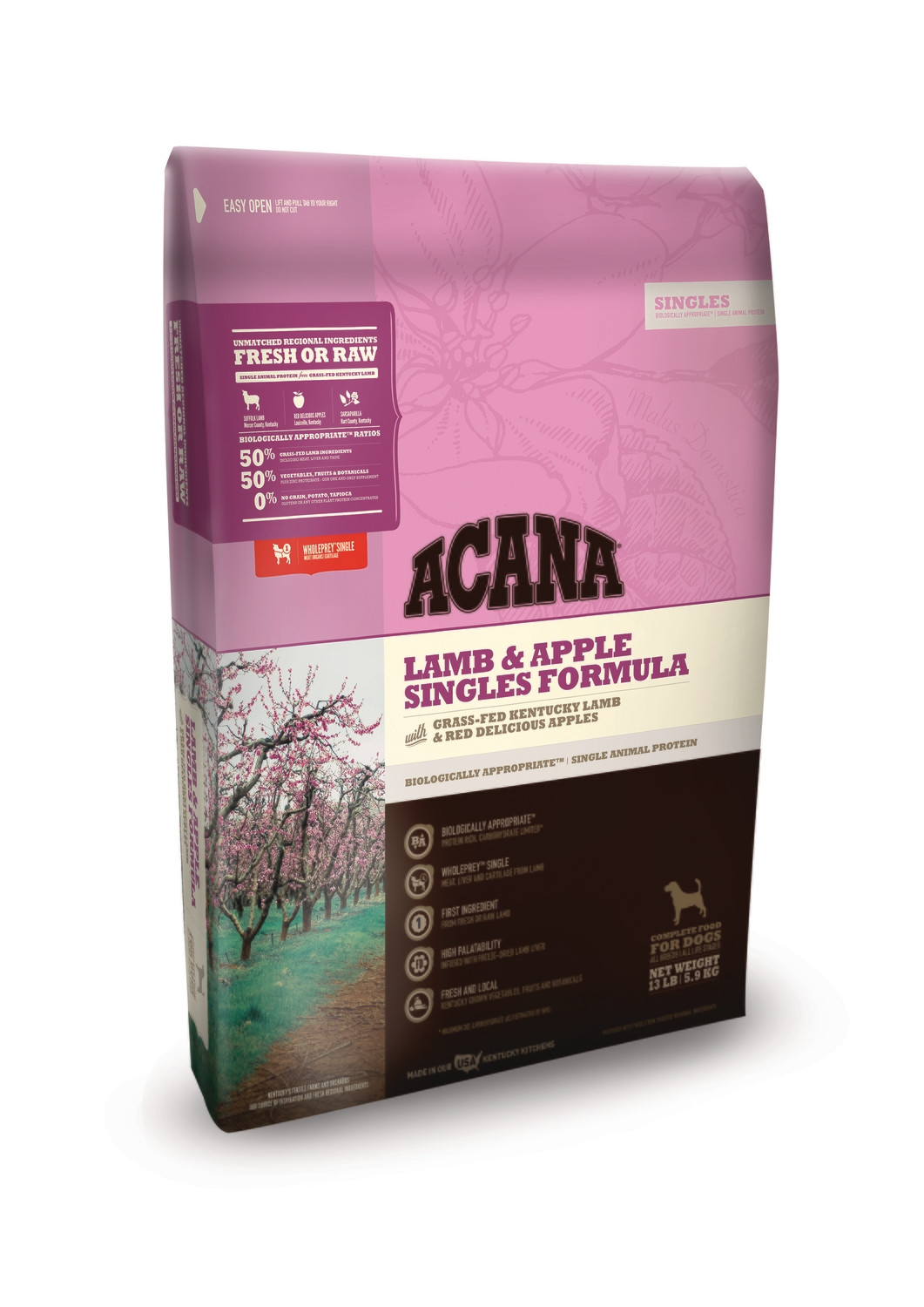 Acana Singles Lamb & Apple 25lb