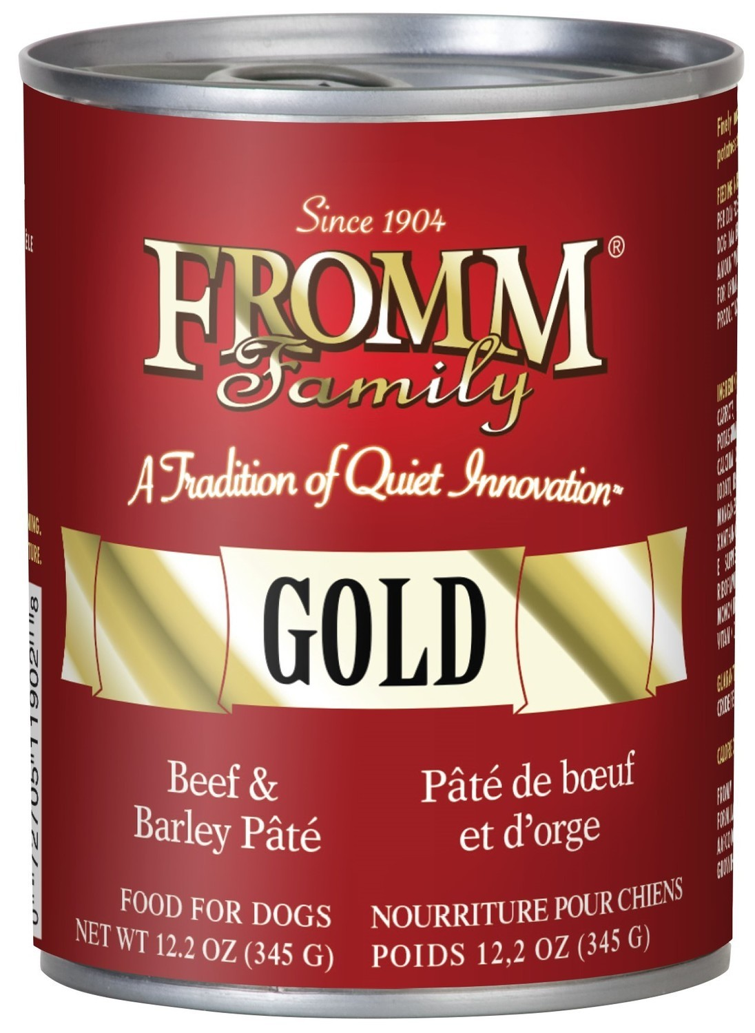 FROMM Gold Beef & Barley Pate 12.2oz.
