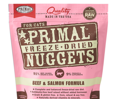 Primal FD Cat Nuggets 5.5oz Beef & Salmon