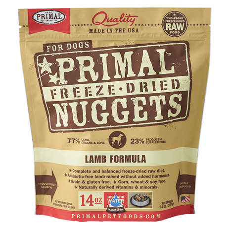 Primal FD Dog Nugget 14oz Lamb