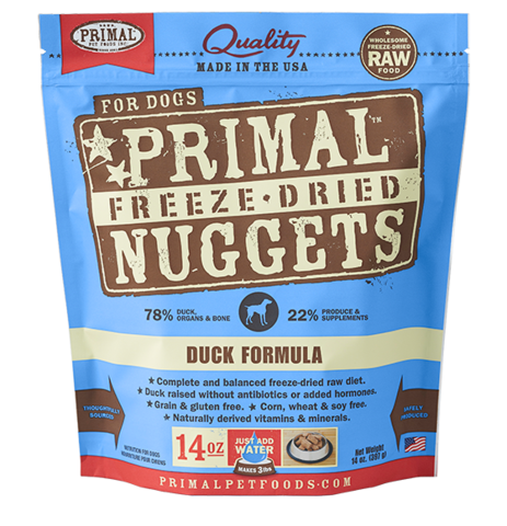 Primal FD Dog Nugget 14oz Duck