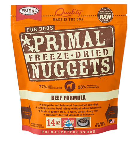 Primal FD Dog Nugget 14oz Beef