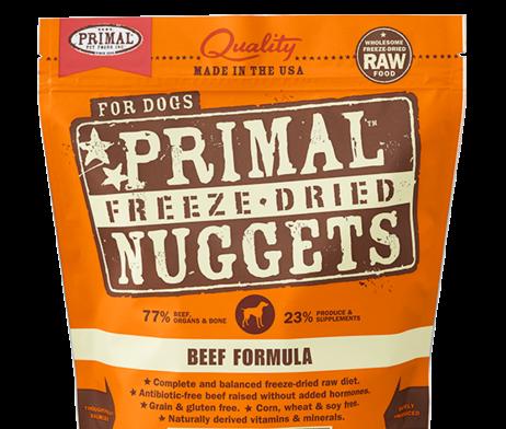 Primal FD Dog Nugget 5.5oz Beef