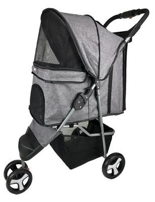 Dogline 3 Wheel Stroller Grey